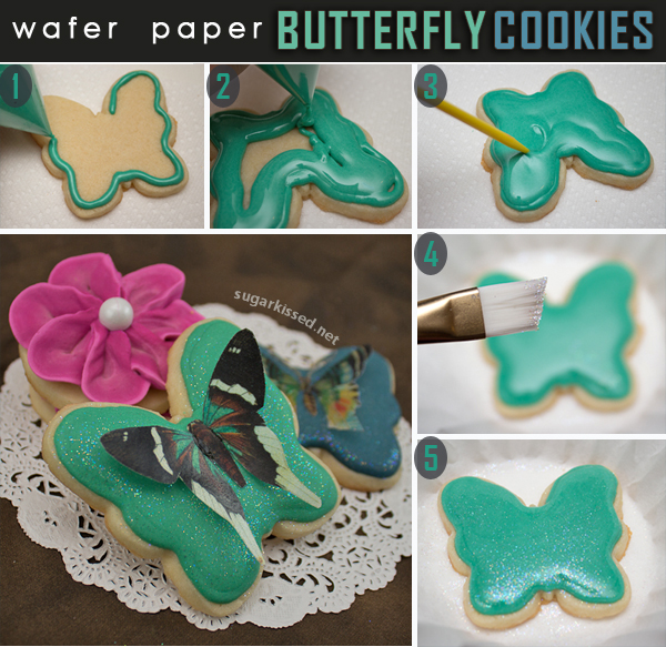 How To Make Wafer Paper Butterfly Cookies