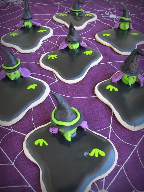 Wicked Witch Halloween Cookies