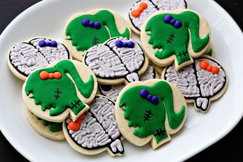 Halloween Zombie Girl Cookies