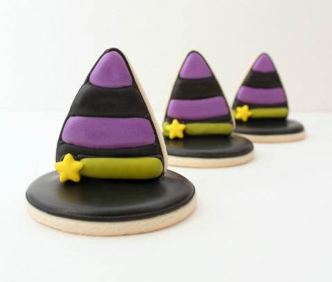 Hallloween 3D Witch Hat Cookies