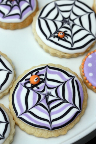 Marbled Spider Web Cookies