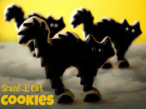 Halloween Scard-E Cat Cookies