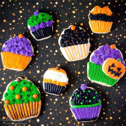 Halloween Cupcake Cookies