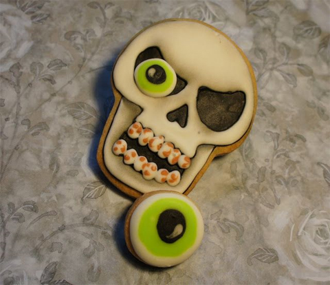 Eye Poppin Skull Cookies