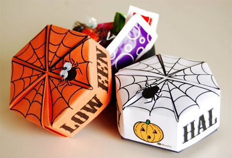 Free Halloween Printable - Origami Treat Box