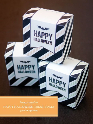 Free Halloween Printable - Treat Boxes