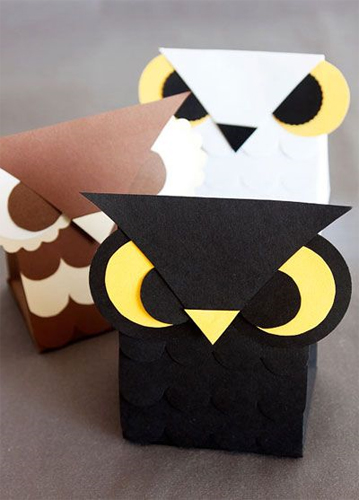 Free Halloween Printable - Owl Favor Box