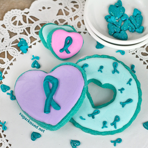 How to Make Cancer Awareness Ribbon Sprinkles