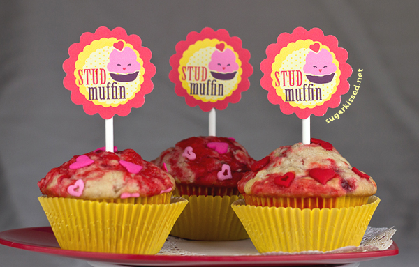 Free Valentine's Day Printable Muffin Topper