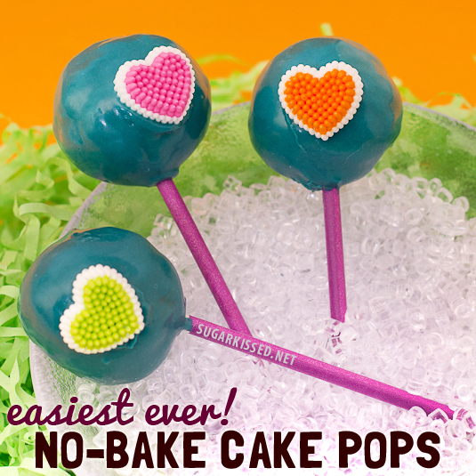 So easy! These no-bake cake pops are brilliant! The perfect solution for when you want to make cake pops but don't want to bake a cake.