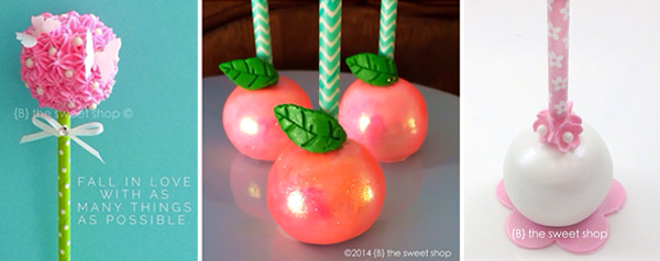 Cake Pops on Paper Straws