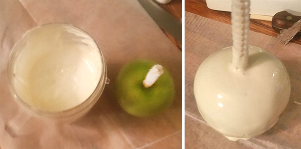How To Make White Chocolate-Covered Apples with Pearls