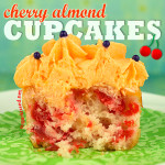 Cherry Almond Cupcake Recipe