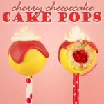 Cherry Cheesecake Cake Pops Recipe
