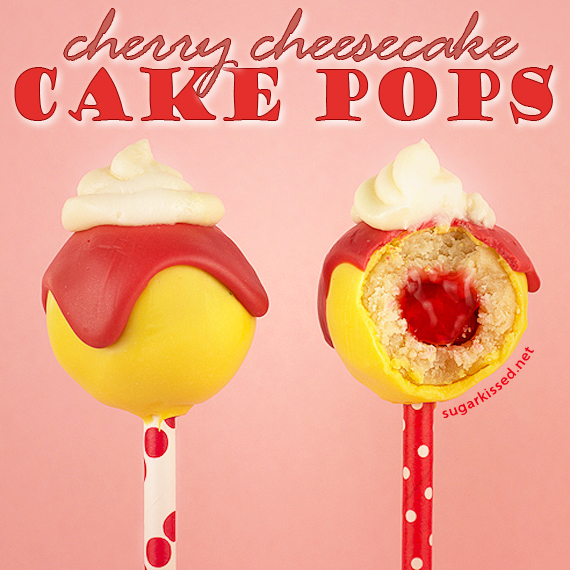 Cherry Cheesecake Cake Pops