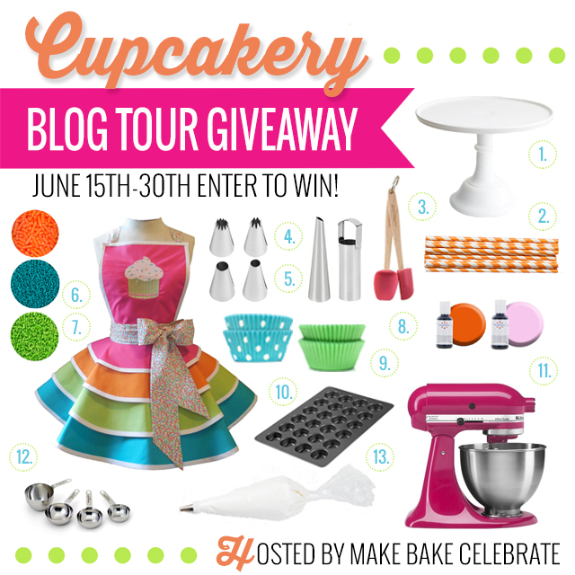 Cupcakery Blog Tour Giveaway Social Media