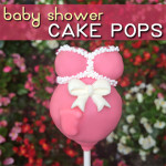 These pregnant belly cake pops are the perfect treat or party favor for a baby shower. With this step-by-step tutorial, they are easy to make! #cakepops #babyshower