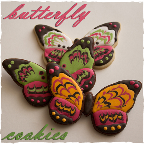 The Marbling Technique And Butterfly Cookies