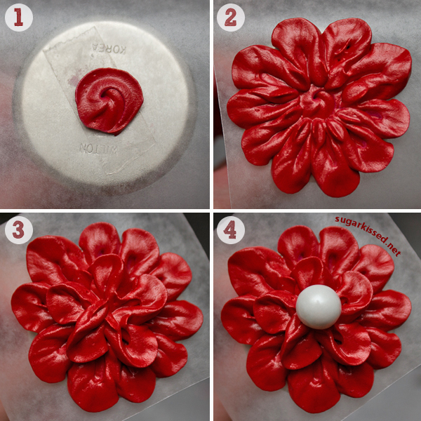 Easy Stunning Dimensional Icing Flowers Design 2 Of 3